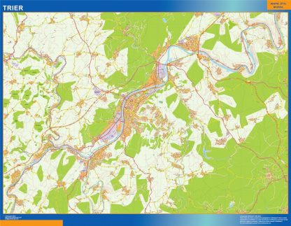 Mapa Trier en Alemania gigante