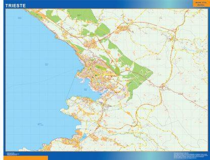 Mapa Trieste gigante