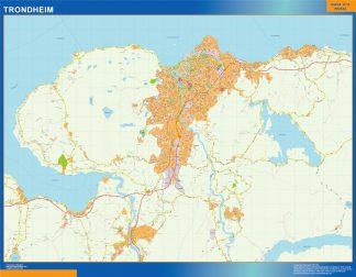 Mapa Trondheim en Noruega gigante