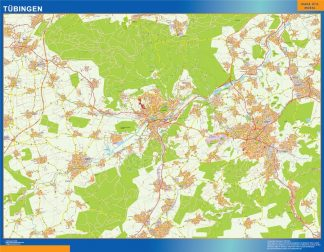 Mapa Tubingen en Alemania gigante