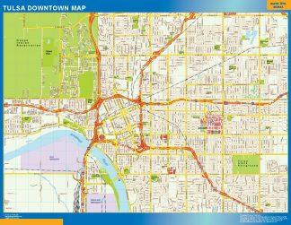 Mapa Tulsa downtown gigante