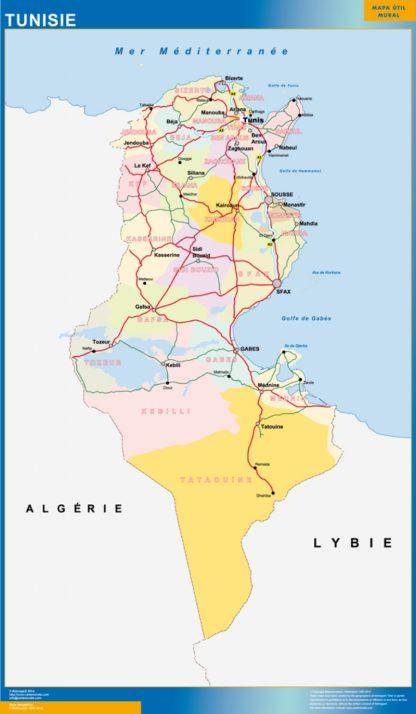 Mapa Tunez gigante