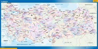 Mapa Turquia gigante