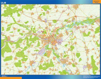 Mapa Ulm en Alemania gigante