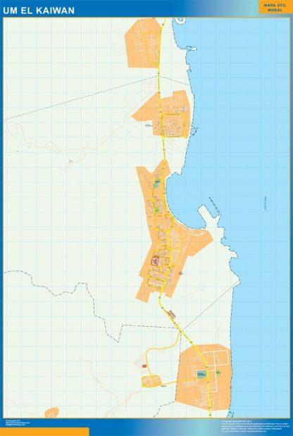 Mapa Um el Kaiwan gigante