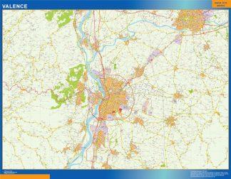 Mapa Valence en Francia gigante