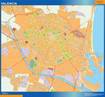 Mapa Valencia callejero gigante