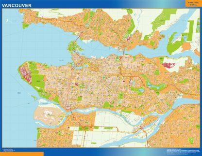 Mapa Vancouver en Canada gigante