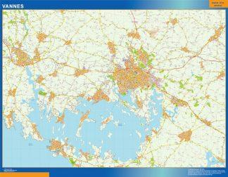 Mapa Vannes en Francia gigante