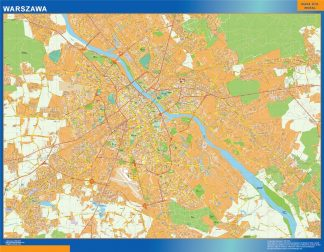Mapa Varsovia Polonia gigante