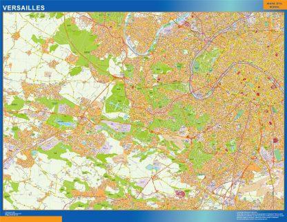 Mapa Versailles en Francia gigante