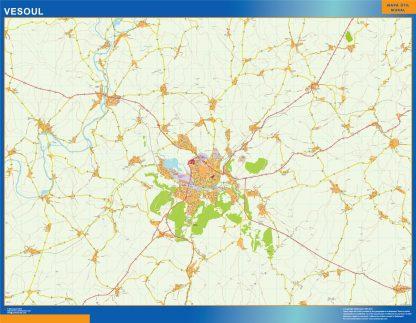 Mapa Vesoul en Francia gigante