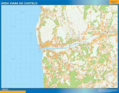 Mapa Viana Do Castelo área urbana gigante