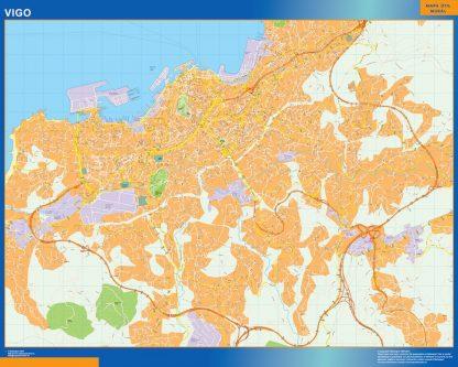 Mapa Vigo callejero gigante