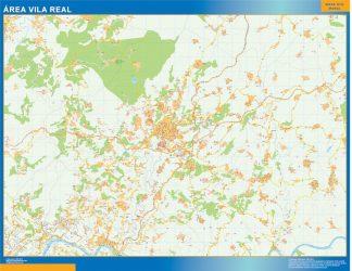 Mapa Vila Real área urbana gigante