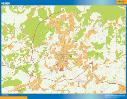 Mapa Viseu en Portugal gigante