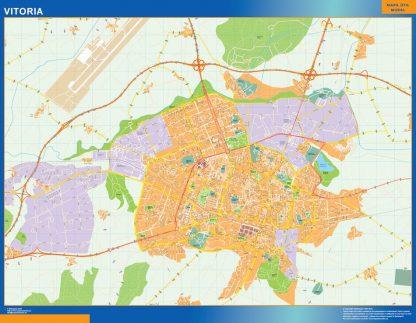 Mapa Vitoria callejero gigante