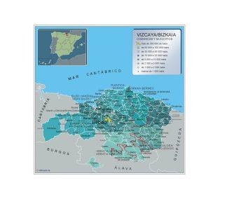 Mapa Vizcaya por municipios gigante