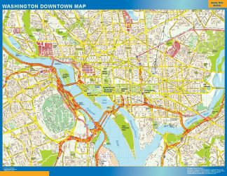 Mapa Washington downtown gigante