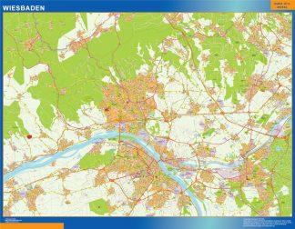 Mapa Wiesbaden en Alemania gigante