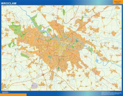 Mapa Wroclaw Polonia gigante