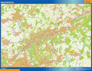 Mapa Wuppertal en Alemania gigante