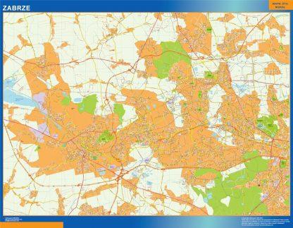 Mapa Zabrze Polonia gigante