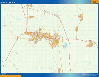 Mapa Zacatecas en Mexico gigante