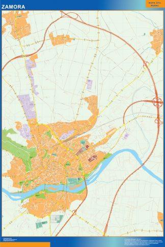 Mapa Zamora callejero gigante