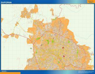 Mapa Zapopan en Mexico gigante