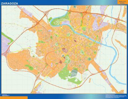 Mapa Zaragoza callejero gigante