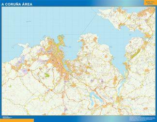 Mapa carreteras A Coruna Area gigante