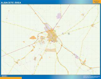Mapa carreteras Albacete Area gigante