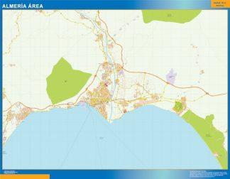 Mapa carreteras Almeria Area gigante