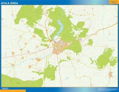 Mapa carreteras Avila Area gigante