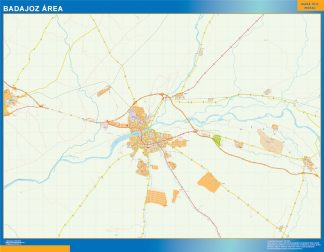 Mapa carreteras Badajoz Area gigante