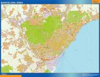 Mapa carreteras Barcelona Area gigante