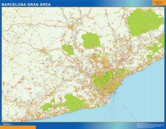 Mapa carreteras Barcelona Gran Area gigante