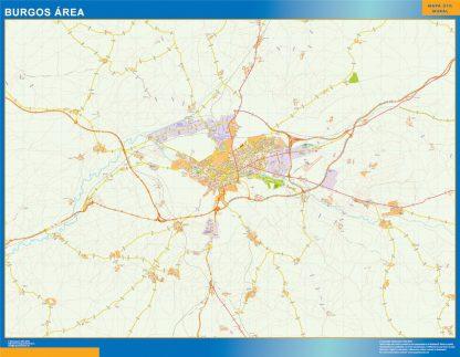 Mapa carreteras Burgos Area gigante
