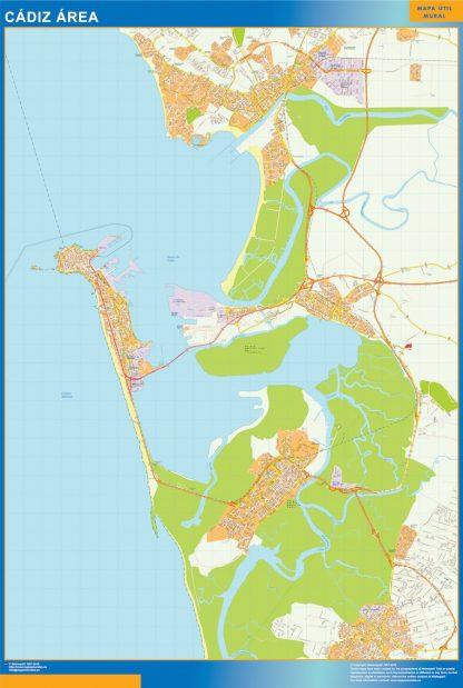 Mapa carreteras Cadiz Area gigante