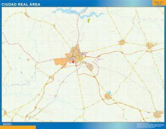 Mapa carreteras Ciudad Real Area gigante