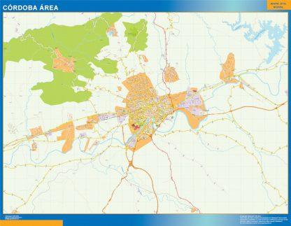 Mapa carreteras Cordoba Area gigante