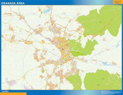 Mapa carreteras Granada Area gigante