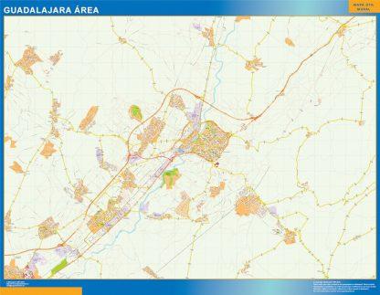 Mapa carreteras Guadalajara Area gigante
