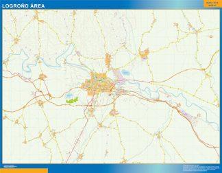 Mapa carreteras Logrono Area gigante