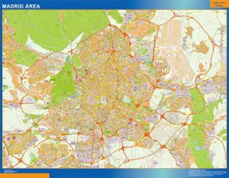 Mapa carreteras Madrid Area gigante