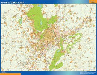 Mapa carreteras Madrid Gran Area gigante