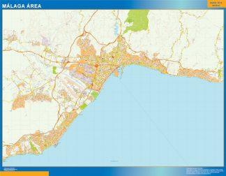 Mapa carreteras Malaga Area gigante