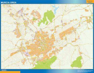 Mapa carreteras Murcia Area gigante