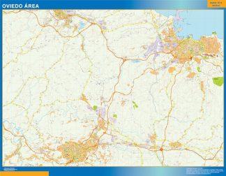 Mapa carreteras Oviedo Area gigante